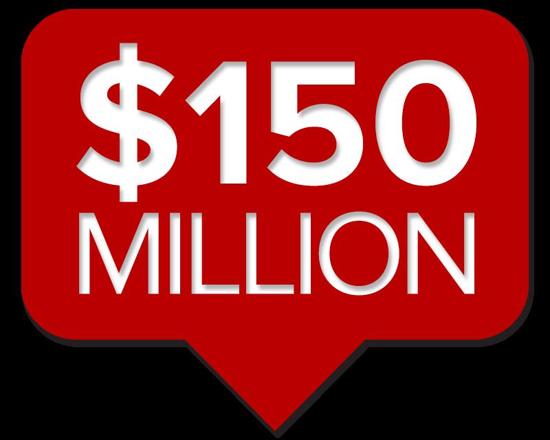 $150 million